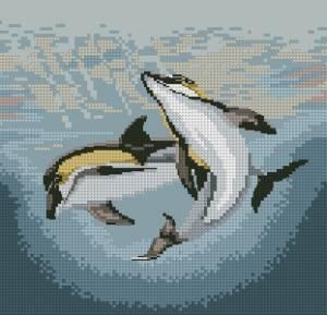 Схема Пара дельфинов
