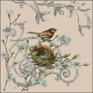 Схема Птичка и гнездо