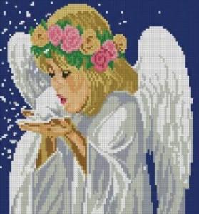Схема Рождественский ангел