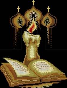 Схема Свеча и Библия