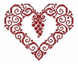 Схема Сердечко и гроздь