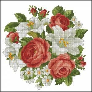 Схема Розы и лилии