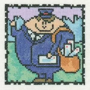 Схема Серия «Смешные человечки»  Почтальон