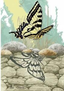 Схема Отражение. Бабочка
