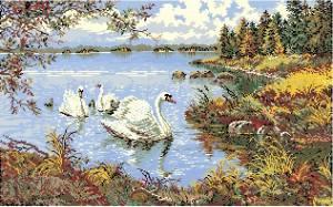 Схема Лебеди в пруду