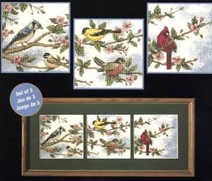 Схема Птицы на ветках (триптих)