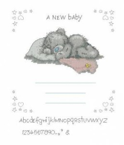 Схема Метрика с мишкой Тедди для девочки
