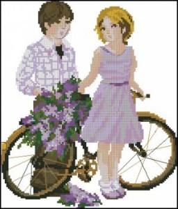 Схема Детки с велосипедом