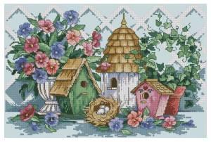 Схема Цветы и скворечники