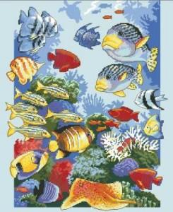 Схема Тропическое изобилие (цветные рыбки)