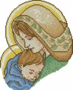 Схема Мадонна с младенцем (цветная)