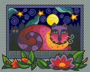 Схема Красочный ночной кот