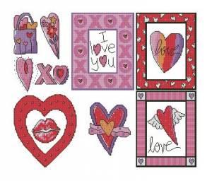 Схема Сердечные открытки