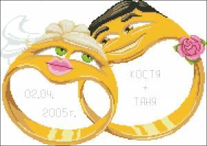 Схема Обручальные кольца