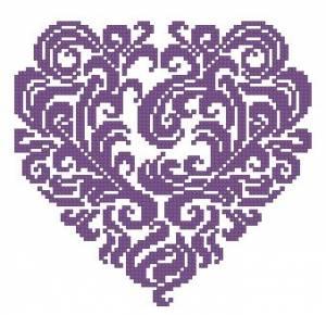 Схема Сердце кружевное
