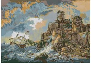 Схема Кораблекрушение у скал