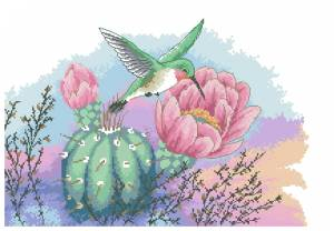 Схема Колибри и кактус / Hummingbird and Cactus