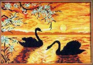 Схема Лебеди на закате