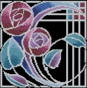 Схема Абстрактная роза / Mackintosh Rose