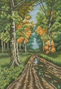 Схема Дорога в лесу
