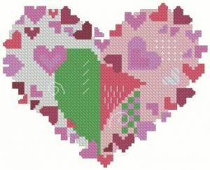 Схема Валентинка пэчворк