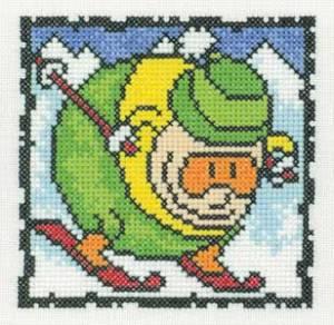 Схема Серия «Смешные человечки» Лыжник