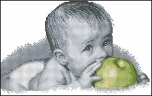 Схема Малыш с яблоком