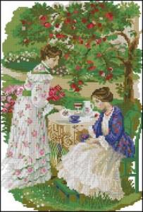 Схема Чай под яблоней