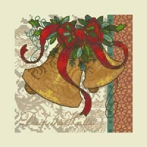 Схема Рождественская открытка