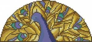 Схема Витражный павлин
