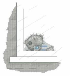 Схема Мишка Тедди. Дождик