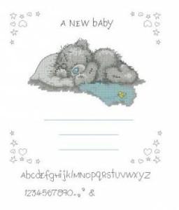 Схема Метрика с мишкой Тедди для мальчика