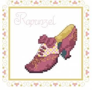 Схема Туфелька Рапунцель / Shoe Rapunzel