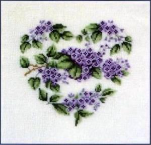 Схема Сиреневое сердце
