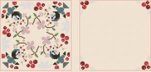 Схема Бискорнюшка с птичками