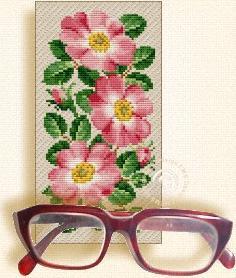 Схема Очечник с розами