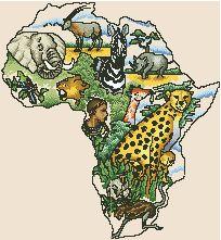 Схема Континенты. Африка