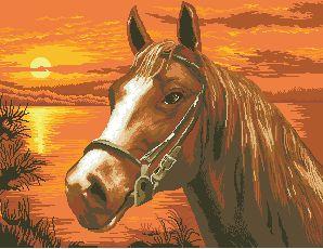 Схема На закате (лошадь)