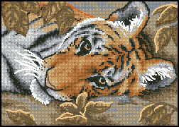 Схема Тигр / Dimensions 65056 Beguiling Tiger
