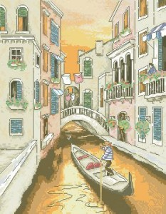 Схема Венеция. Канал