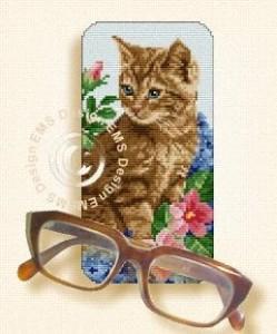 Схема Очечник с котенком
