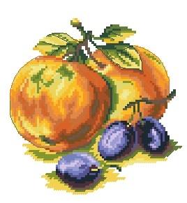 Схема Сливы с яблоками