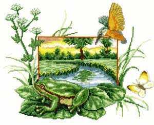 Схема Пейзаж с лягушкой