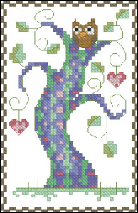 Схема Дерево любви фиолетовое