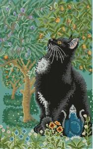 Схема Животные. Котик и дерево (мирра) / Myrrh