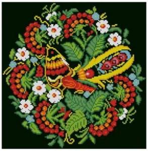 Вышивка крестом бесплатно хохлома