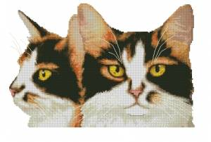 Схема Трехцветная кошка / Calico Cat