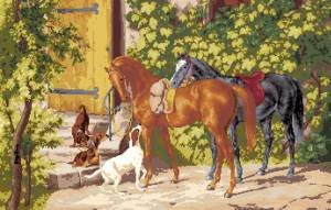 Схема Лошади у крыльца