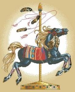 Схема Карусельная лошадка (черная)