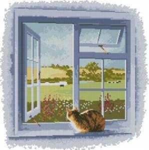 Схема Кошка на окне